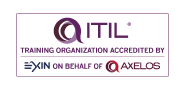 ITIL Training organization accredited by EXIN on behalf of Axelos