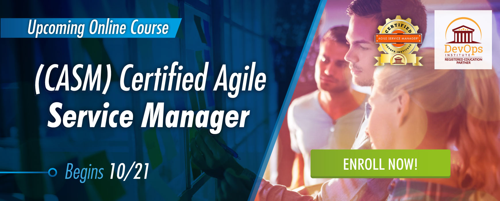 Certified Agile Service Manager Begins 10/21