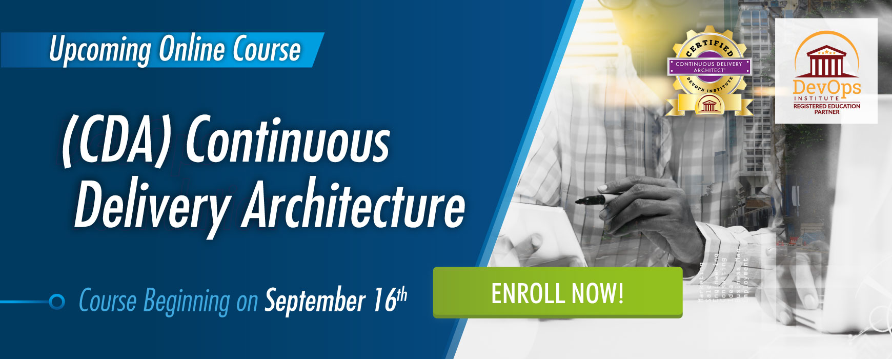 Continuous Delivery Architecture Certification Course September 16th