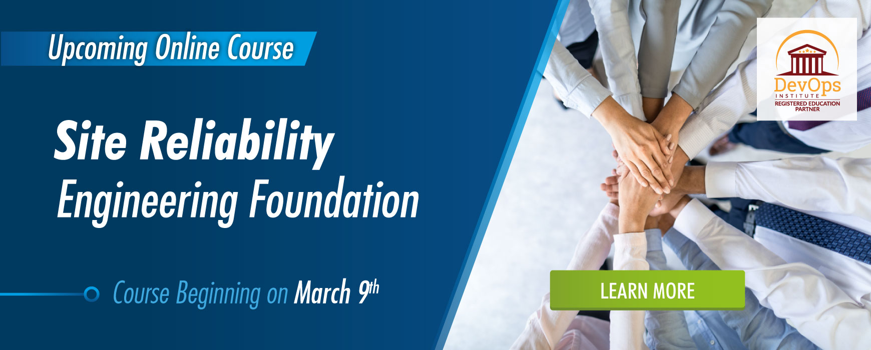 Site Reliability Engineering Foundation Certification Course Begins 3/9
