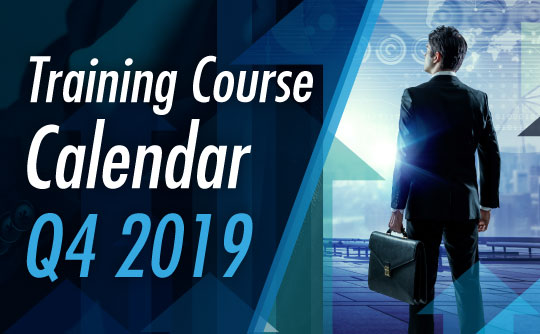 Training Course Calendar Q4 2019